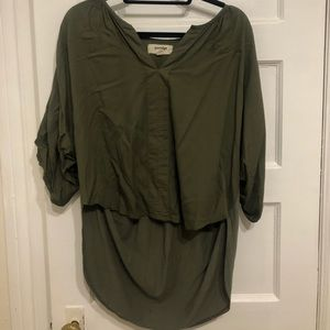 Porridge Olive High Low T-Shirt Top